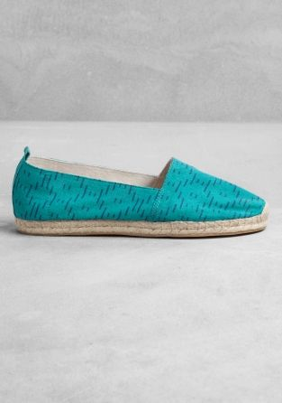 ALYSON FOX These espadrilles have natural rope soles with rubber outsoles and comfy fabric uppers featuring graphic patterns. Heel height: 1.8 cm.