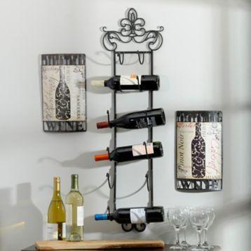 Metal Fleur De Lis Towel Wine Rack Wine Rack Hanging Wine Rack Small Bathroom Storage