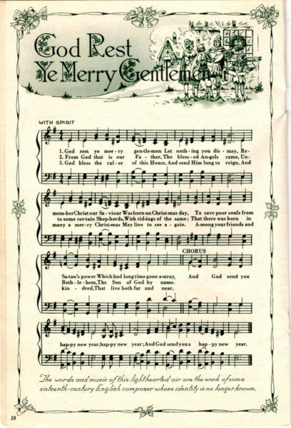 photograph regarding Free Printable Vintage Christmas Sheet Music named Remodelaholic 25+ Cost-free Printable Traditional Xmas Sheet