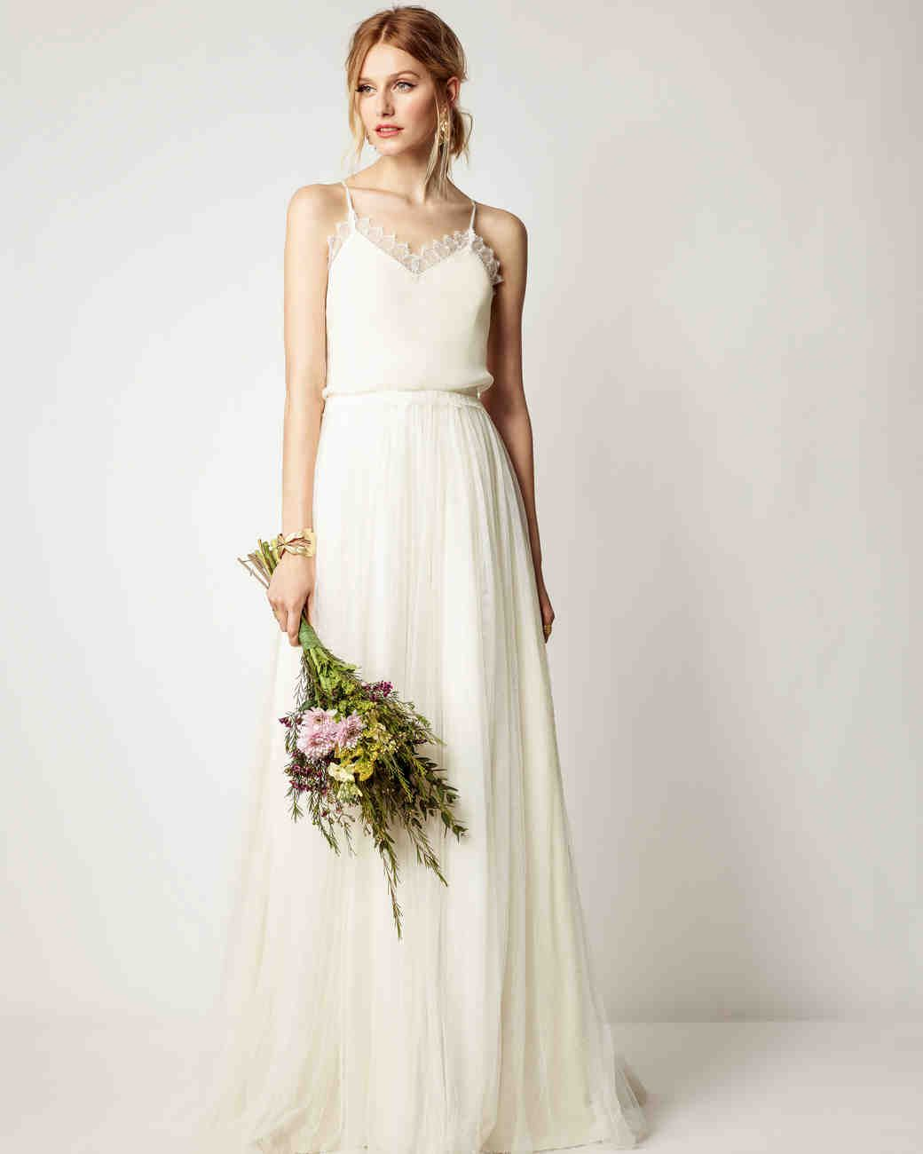 fall bridal party pictures%0A Rembo Styling Fall      Wedding Dress Collection   Martha Stewart Weddings   u     Sleeveless Aline