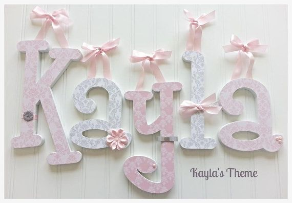 Custom Wooden Nursery Letters KaylaS Theme Nursery Wall