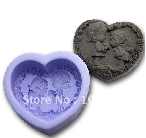 Aliexpress.com : Buy Free shipping!!!1pcs Two Lovely Angel (R0984)   Silicone Handmade Soap Mold Crafts DIY Mold from Reliable Silicone Soap Mold suppliers on Silicone DIY Mold and  Home Supplies Store $13.98
