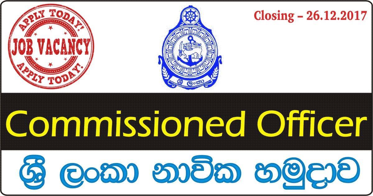 Commissioned Officer - Sri Lanka Navy