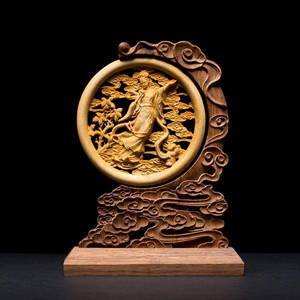 Pas cher Chinois style accueil décors bois fait feng shui structures Decoration Chinoise on