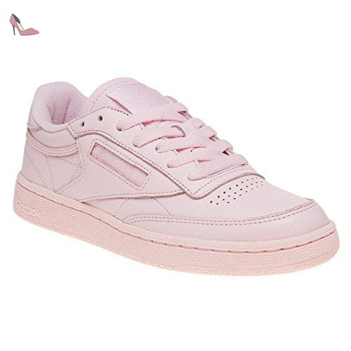 Reebok Club C 85 Elm Fille Baskets Mode Rose Chaussures