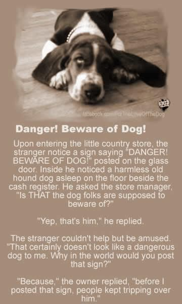 Beware of the Dog!!! I need to post a sign in myhouse, we're