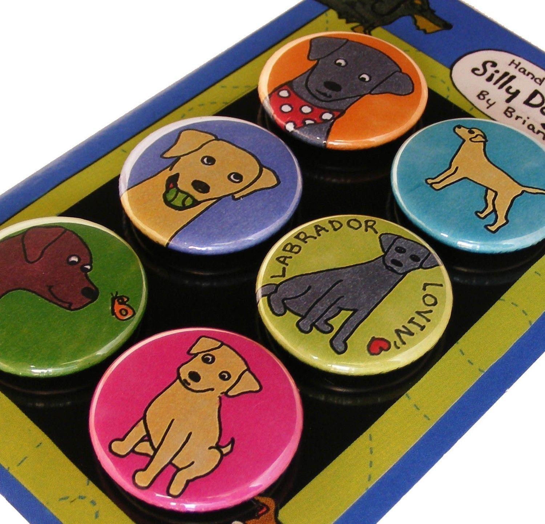 Labrador Retriever Magnet set. $8.99, via Etsy.