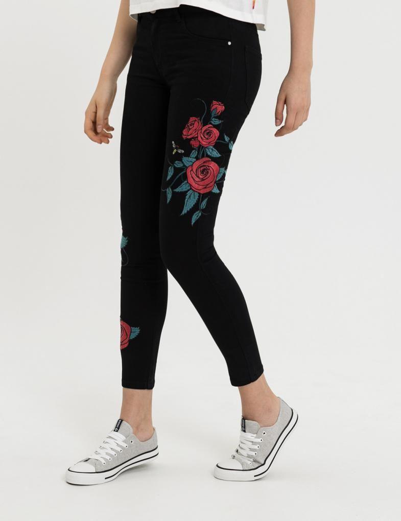 Odziez I Obuwie Damskie Sklep Internetowy Diverse Black Jeans Pants Capri Pants