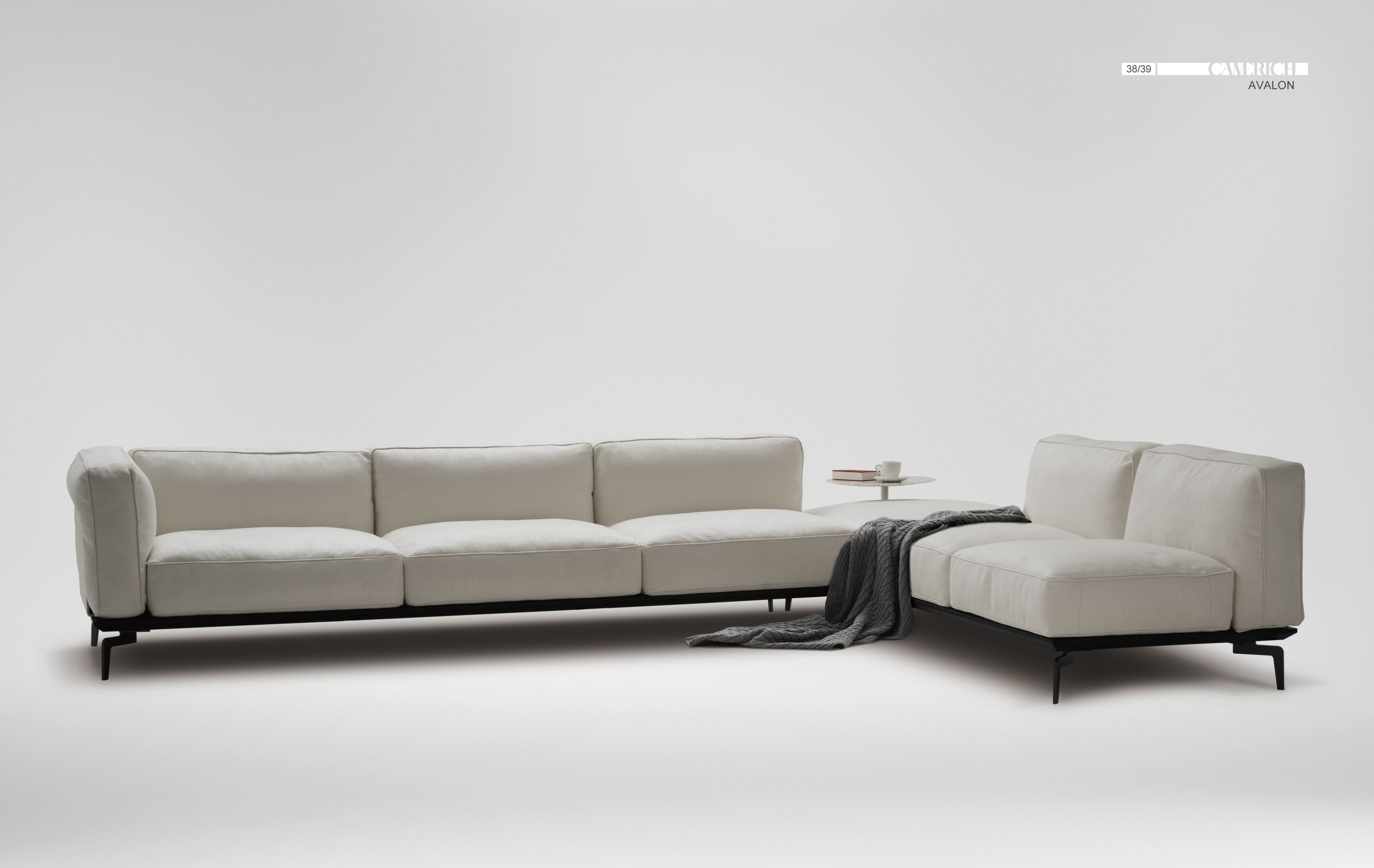 Lazytime plus sofa camerich - Sofa With Foam And Feather Down Seat Cushion Base Cast Steel With Black Painted Finish