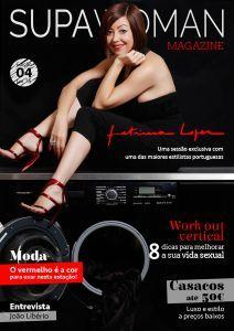 Contamos com a 4ª edição da revista online e a primeira edição de 2015. Uma revista que fala de moda, decoração, amor&sexo, vida e todos os temas que interessam às mulheres. Para a nossa capa, tivemos o prazer de ter uma das maiores estilistas portuguesas, Fátima Lopes, uma mulher surpreendente e um ícone da moda nacional e internacional.   Desejamos a todas as leitoras um ótimo 2015. Tudo isto e muito mais na sua SUPA MAGAZINE.
