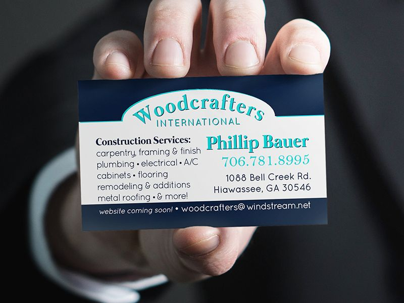 Woodcrafters International Business Card Design | Business cards ...