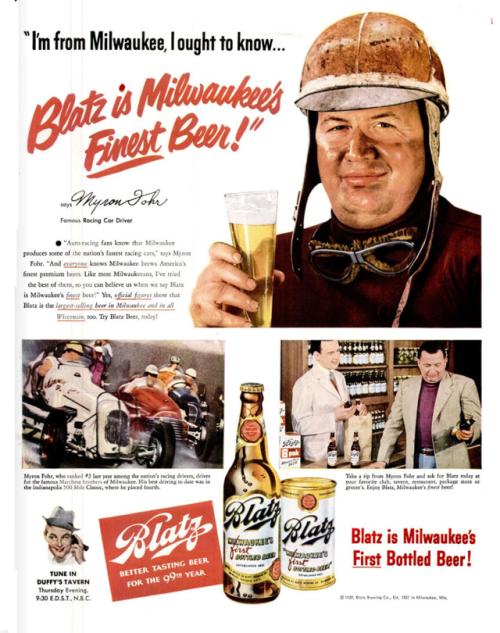 Blatz Beer ad (May 1950) Beer ad, Old ads, Beer
