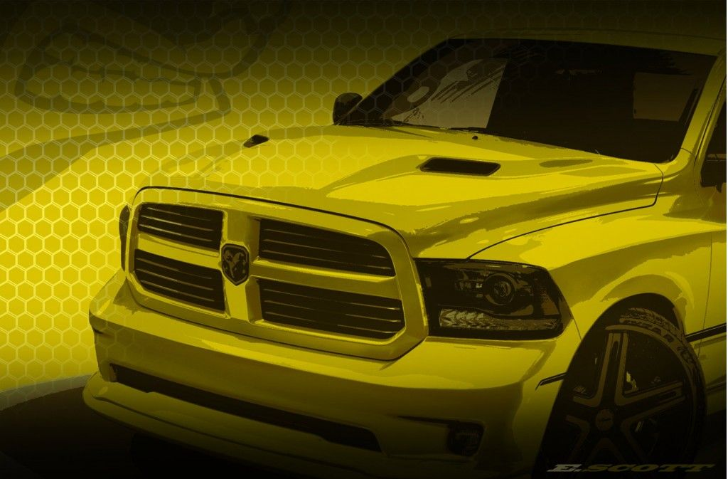 Ram Teases Rumble Bee Performance Pickup Concept Cool Trucks