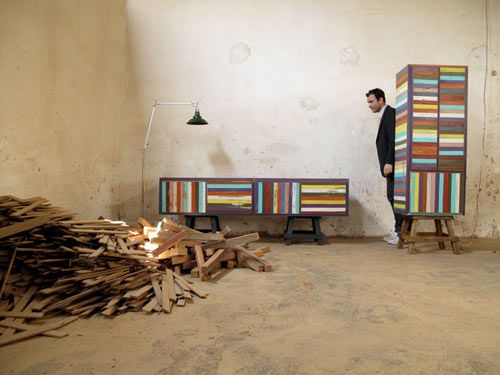 Brazilian Designer Brunno Jahara Of Jahara Studio Has Created A Collection  Of Furniture Made Using Scrap Wood. Called Neorustica, Discarded Strips Of  Wood ...