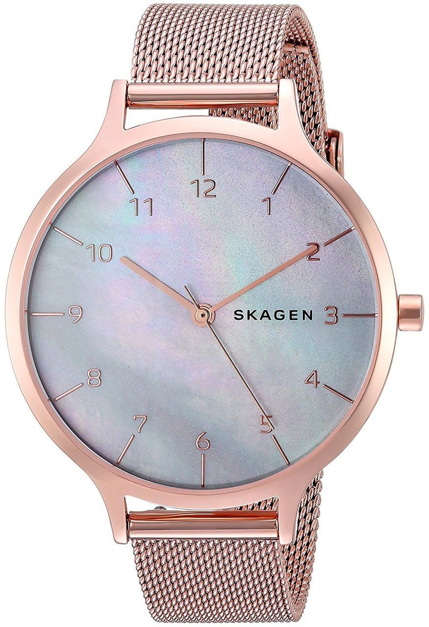 f0f5b15b6 SKW2633 Shop New Skagen Anita Mother of Pearl Dial Rose Gold Steel Mesh  Watch for less on sale @ WatchWarehouse.com Free Shipping 30 Day Money Back