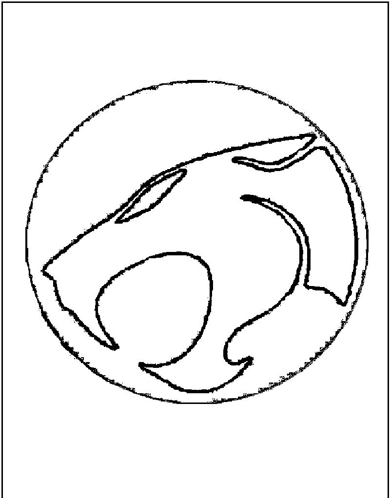 thundercats logo brand coloring page