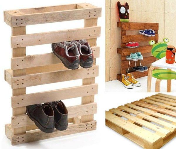 Shoe Rack Itself Make Europallets Diy Idea Plywood Men S Shoes Children