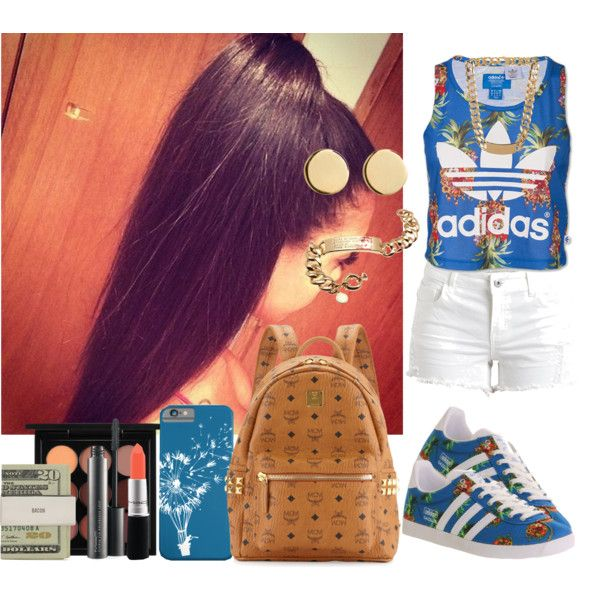 Tasha 1 by mindlessmeh on Polyvore featuring polyvore, fashion, style, adidas, VILA, MCM, Loren Stewart, MARC BY MARC JACOBS, Balenciaga, MAC Cosmetics and Jack Spade