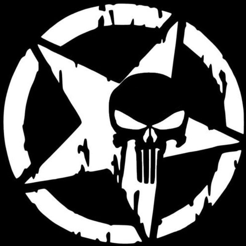 13cmx13cm The Punisher Skull Car Sticker Pentagram Vinyl Decals Motorcycle Accessories C1 3132 In 2020 Vinyl Decals Punisher Stickers Punisher
