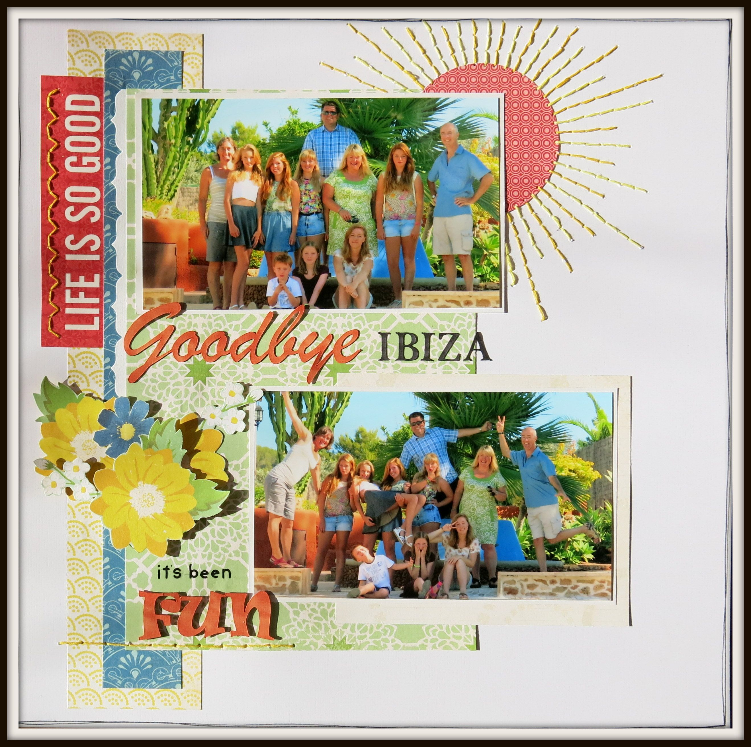 Scrapbook ideas goodbye - Goodbye Ibiza Scrapbook Com