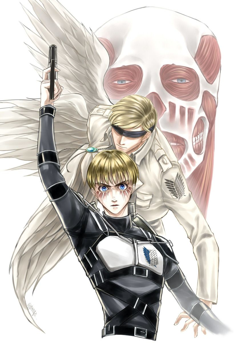Spoilers Armin Spirit Of Erwin Attack On Titan Attack On Titan Anime Attack On Titan Art