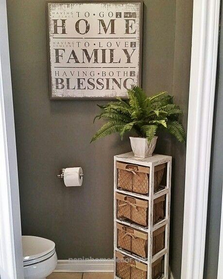 fascinating half bath decorating ideas bathroom | My new bathroom decor. #kirklands #athome | Half bathroom ...