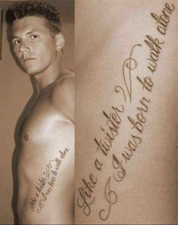 Nice Quotes To Get Tattooed: Tattoo-quotes-like A Twister I Was Born To Walk Alone