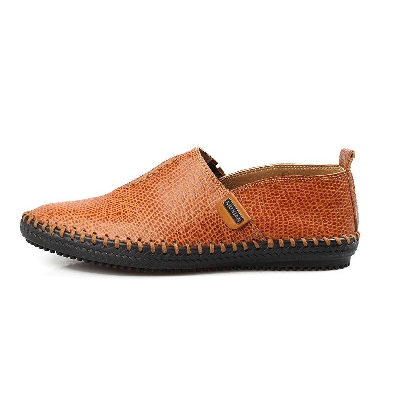 4cd032c6690a6 Online Shop Prelesty Autumn Stylish High Quality Genuine Leather Men  Loafers Slip-On Casual Shoes