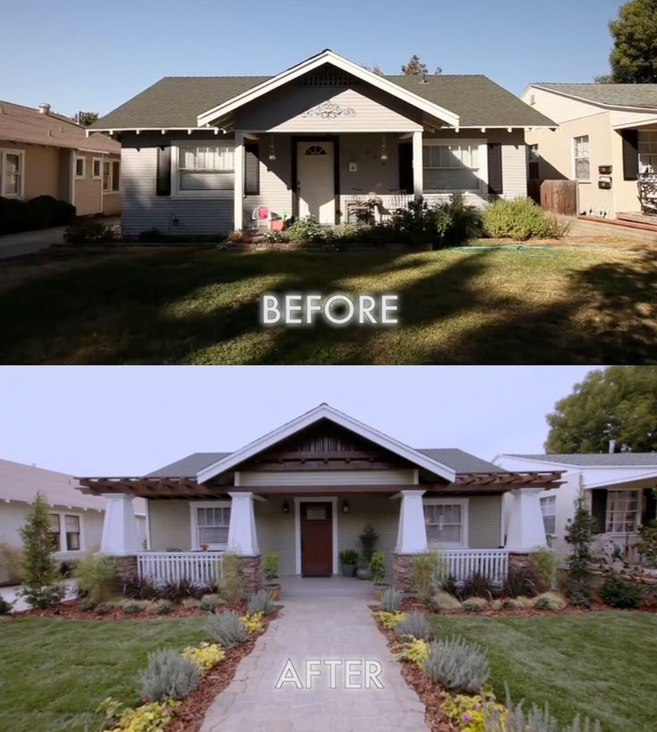 Home Exterior Makeover: Before$After Outside Wall Painting Of Houses