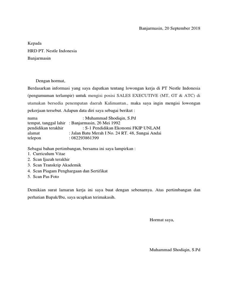 50 Contoh Surat Lamaran Kerja Xiaomi Kerja Surat Kota Makassar