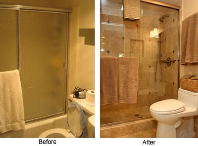Small Bathroom Pictures Before And After bathroom remodel before and after - u design blog | bathroom redo
