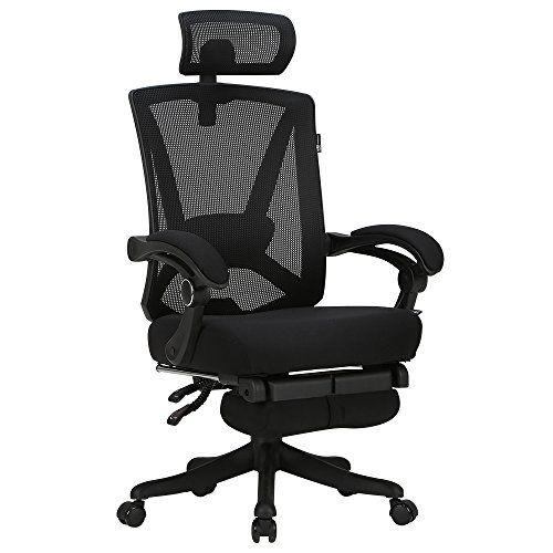 Tilt-Down Backrest Mesh Adjustable High Back Office Chair Breathable Computer Desk Chair Mesh Office Chair with Adjustable Headrest Giantex Ergonomic Office Chair Mesh Back Office Chair