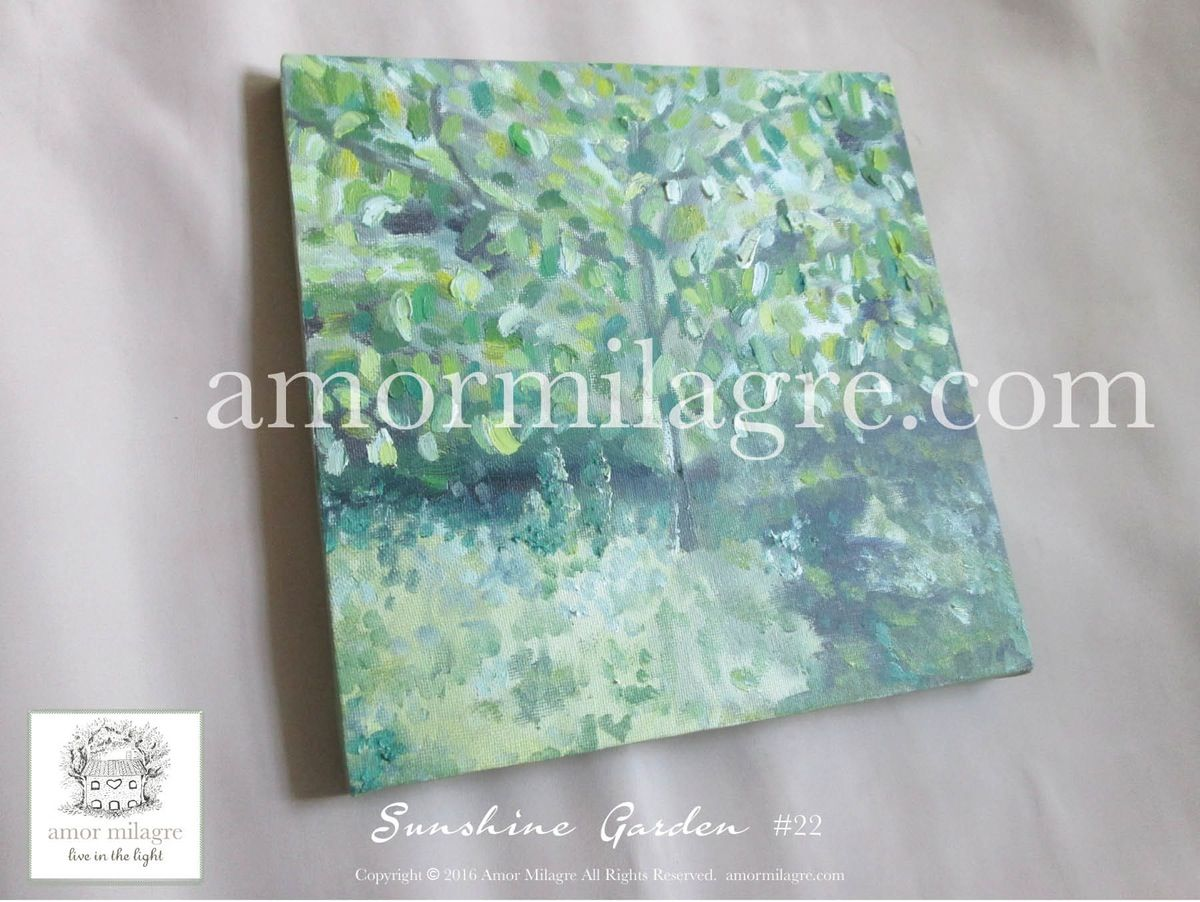 Watercolor books for sale - Oil Painting Holiday Art Sale Sunshine In The Garden Trees 22 Amormilagre Com