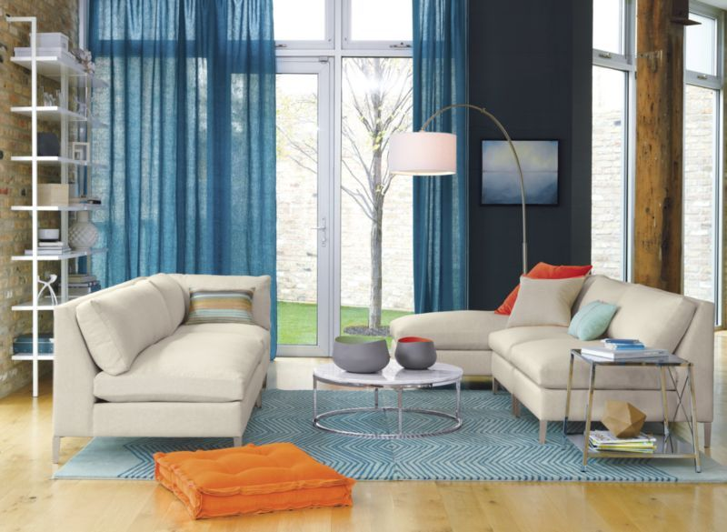 cielo II ivory loveseat   CB2 : cb2 cielo sectional - Sectionals, Sofas & Couches