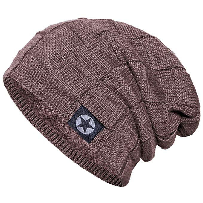 new products b824c 27826 Senker Beanie Hat Winter Warm Cap Soft Thick Slouchy Knit Hats for Men and  Women