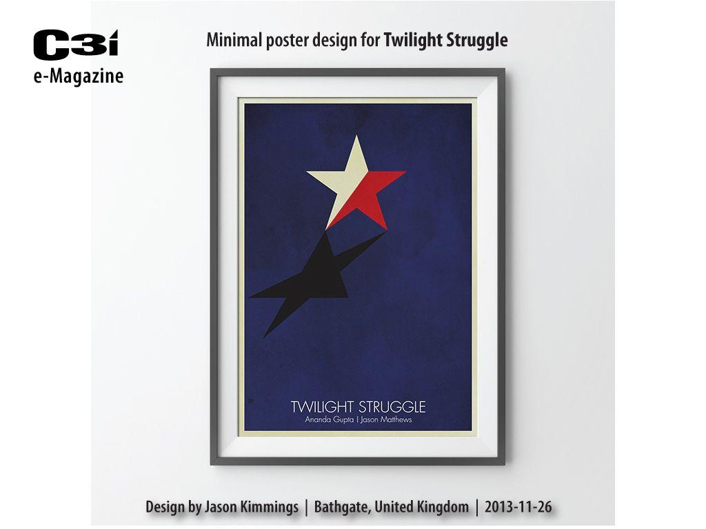 Twilight Struggle Poster Design Minimal Poster Poster