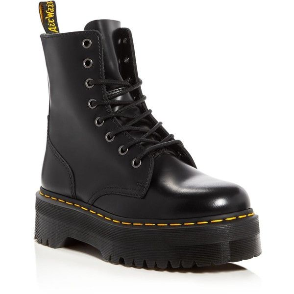 ab5507af11a Dr. Martens Jadon Platform Booties ( 180) ❤ liked on Polyvore featuring  shoes