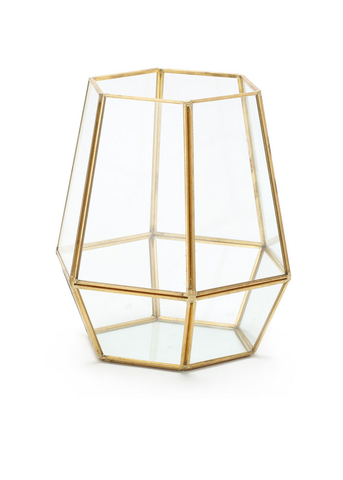 Gold Glass Geometric Containers For Diy Terrariums Afloral Com