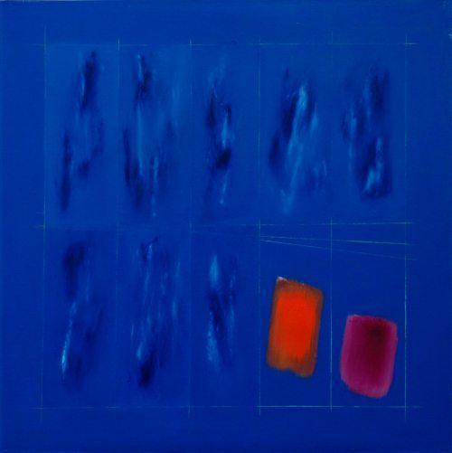 1995 - da architettura del colore, olio su tela, cm 100x100 Ennio Finzi