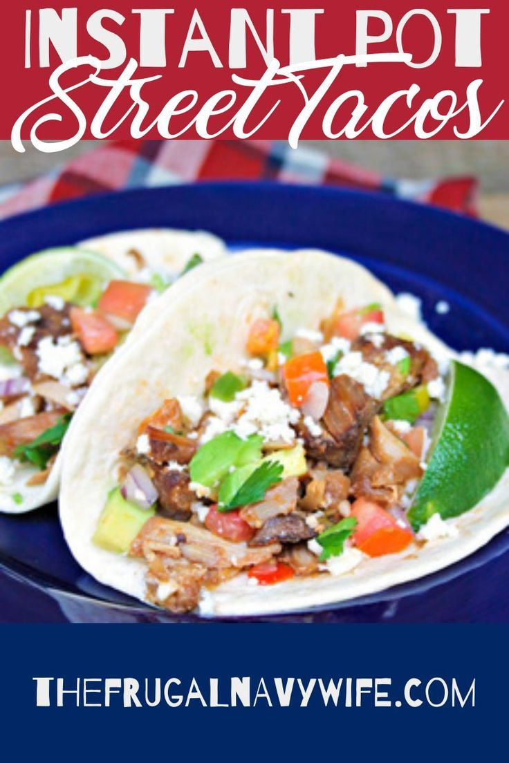 Pulled Pork Instant Pot Street Tacos