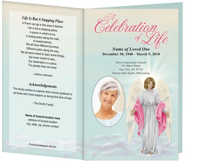 Angelina Funeral Program Template Light Dark Skin Funeral Program Template Funeral Programs Program Template