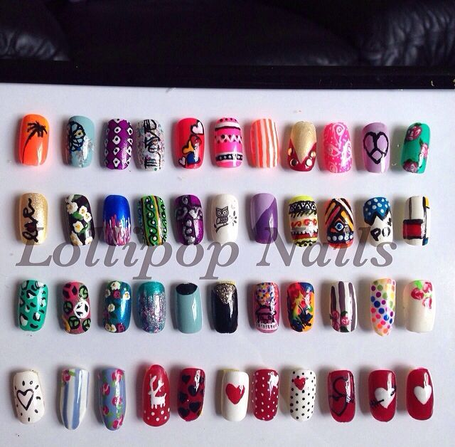 Nail Art Display By Sian Lollipop Nails Ideas For Work