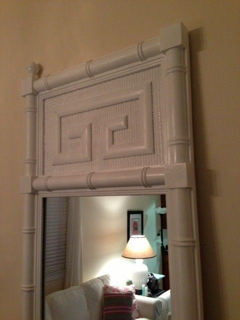 Faux Bamboo Greek Key Mirror $200 - Richmond http://furnishly.com/catalog/product/view/id/2128/s/faux-bamboo-greek-key-mirror/