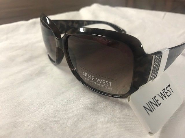 a3733d4403  42.00 NEW Nine West Womens black brown Sunglasses 100% UV protection 23   fashion  clothing  shoes  accessories  womensaccessories ...