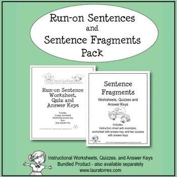 Run-on Sentences and Sentence Fragment Pack Sentence fragments - sentence and fragment