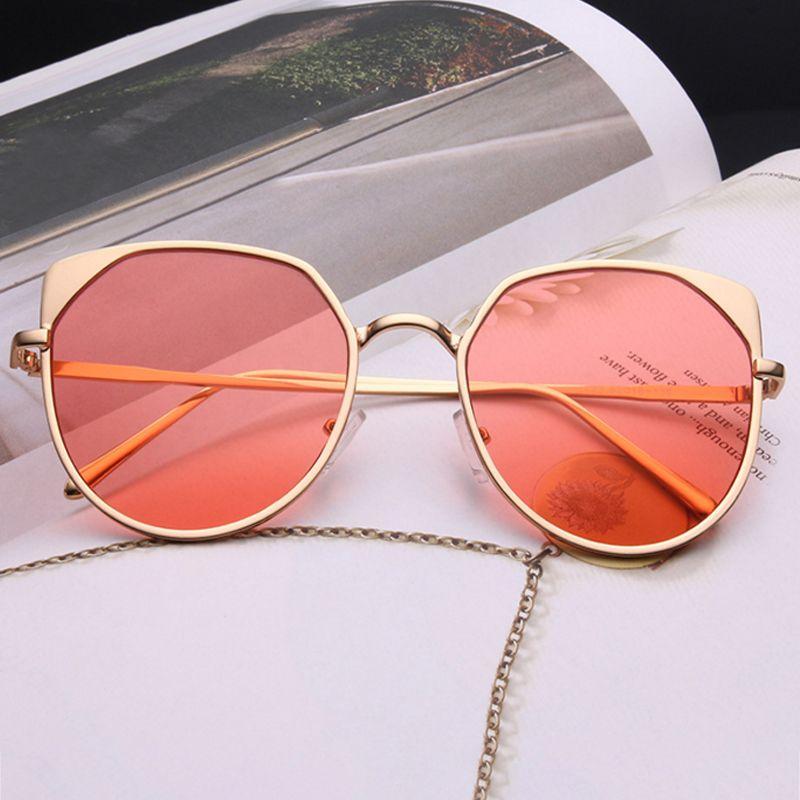cd3e016c34f WISH CLUB Fashion Cat Eye Sunglasses For Women Colourful Glasses Men Mirror  Girl Sun Glasses Rose