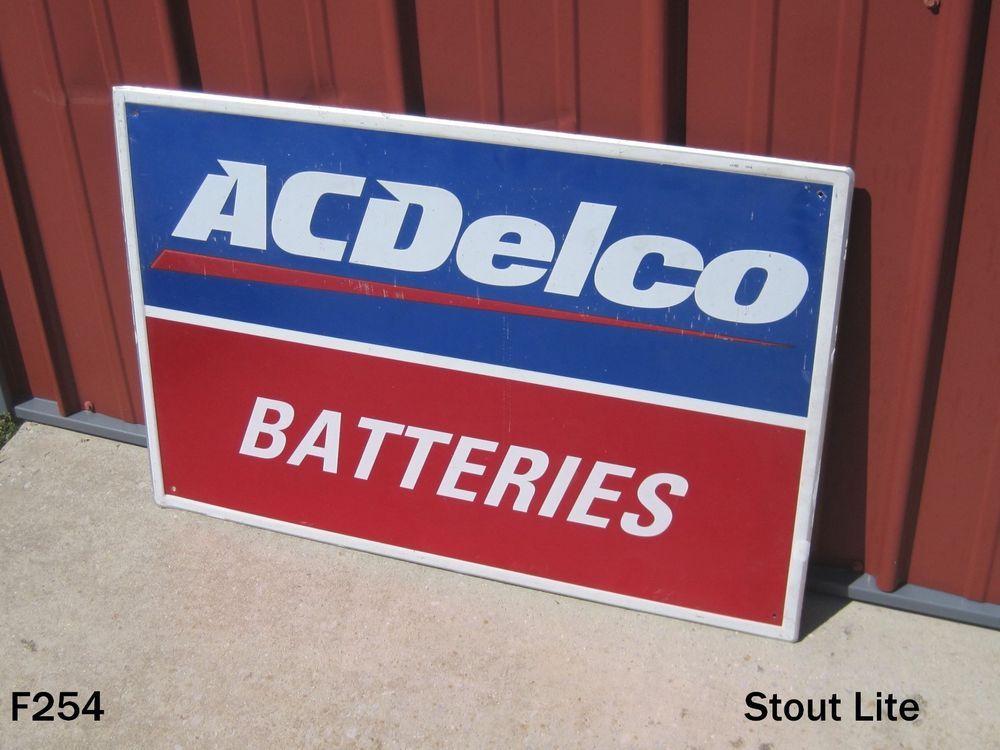 Original Ac Delco Gas Service Station Sign General Motors Chevy