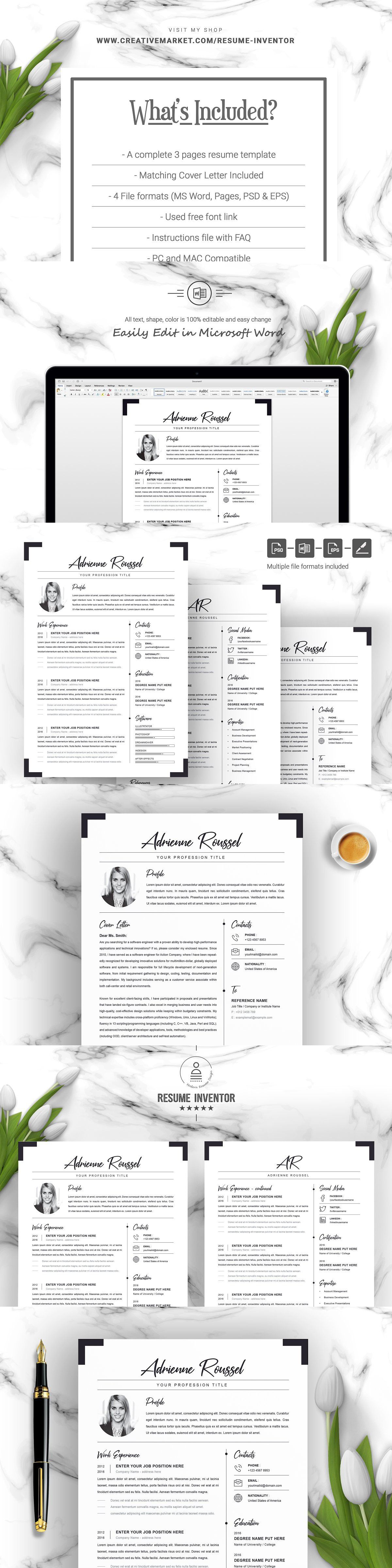 Clean Resume/CV Template with Photo Cv template, Clean