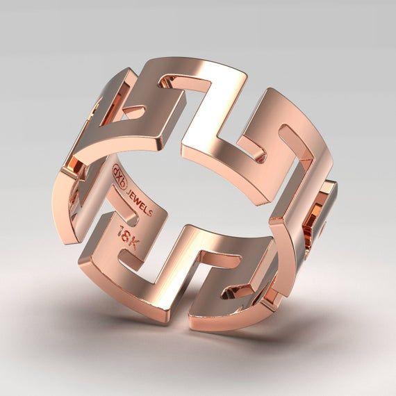 Versace hombres anillo de boda, juegos de boda anillos de mujeres, anillos de hombres personalizados plata, anillo de boda de oro único para aniversario de regalo
