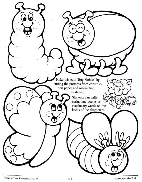 squish preschool ideas garden insects recortables coloring